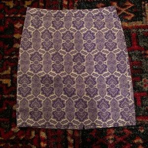 J.Crew Lavender/ White Pencil Skirt